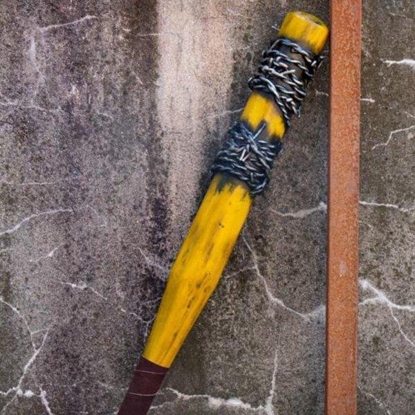 Epic Armoury LARP baseball bat barbed wire, 80 cm, yellow