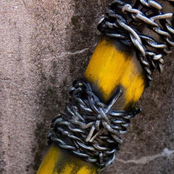 Epic Armoury GRV mazza da baseball di filo spinato, 80 centimetri, di colore giallo