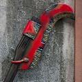 Epic Armoury LARP roestige maaihaak, rood