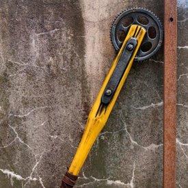 Epic Armoury LARP cogwheel bat, yellow