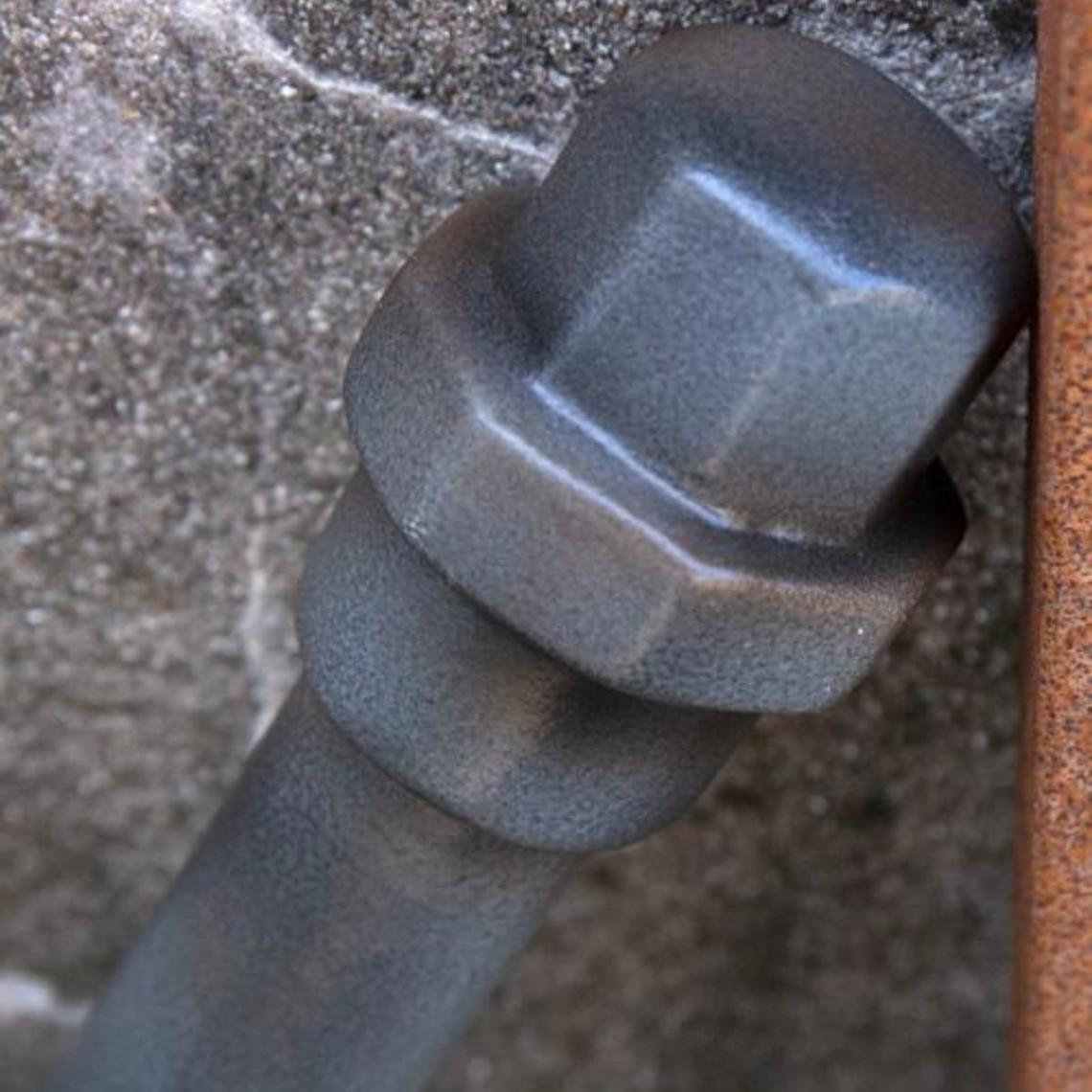 Epic Armoury tubo de metal LARP, color de acero