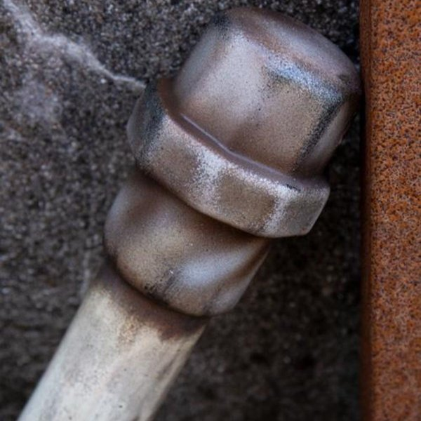Epic Armoury tubo de metal LARP, blanco