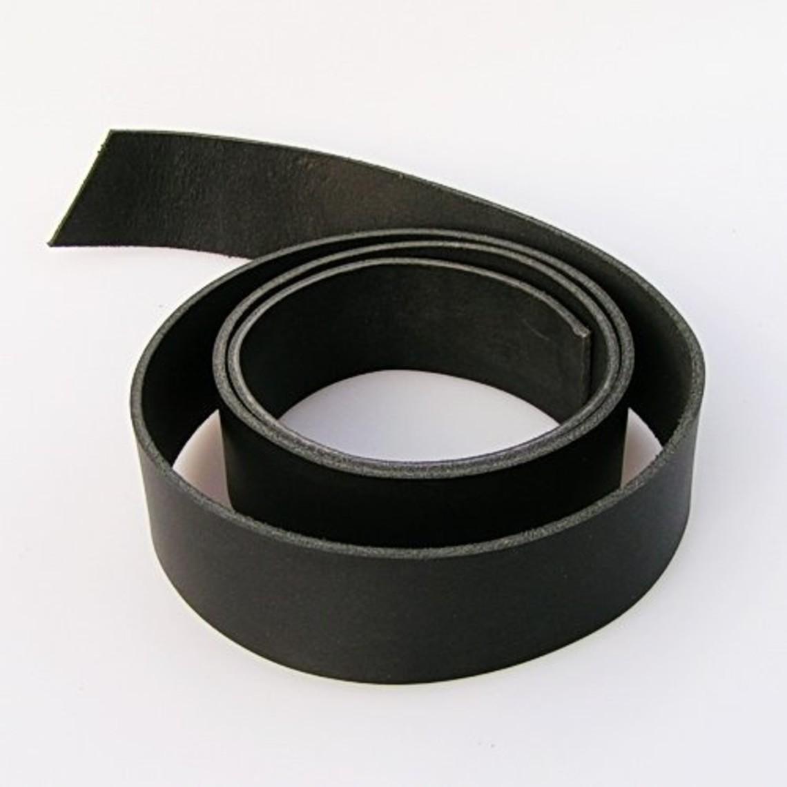 Leren riemband 20 mm / 140 cm, zwart