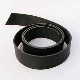 Pasek skóry 20 mm / 140 cm czarny