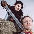 Epic Armoury LARP średniowieczny miecz złoto