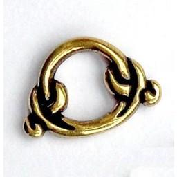 Birka ring for seax scabbard, silvered