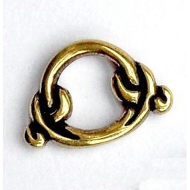 Birka anneau pour fourreau seax, argenté