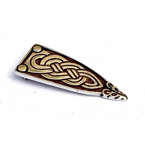 Viking cinghia fine Borre animale, argentato