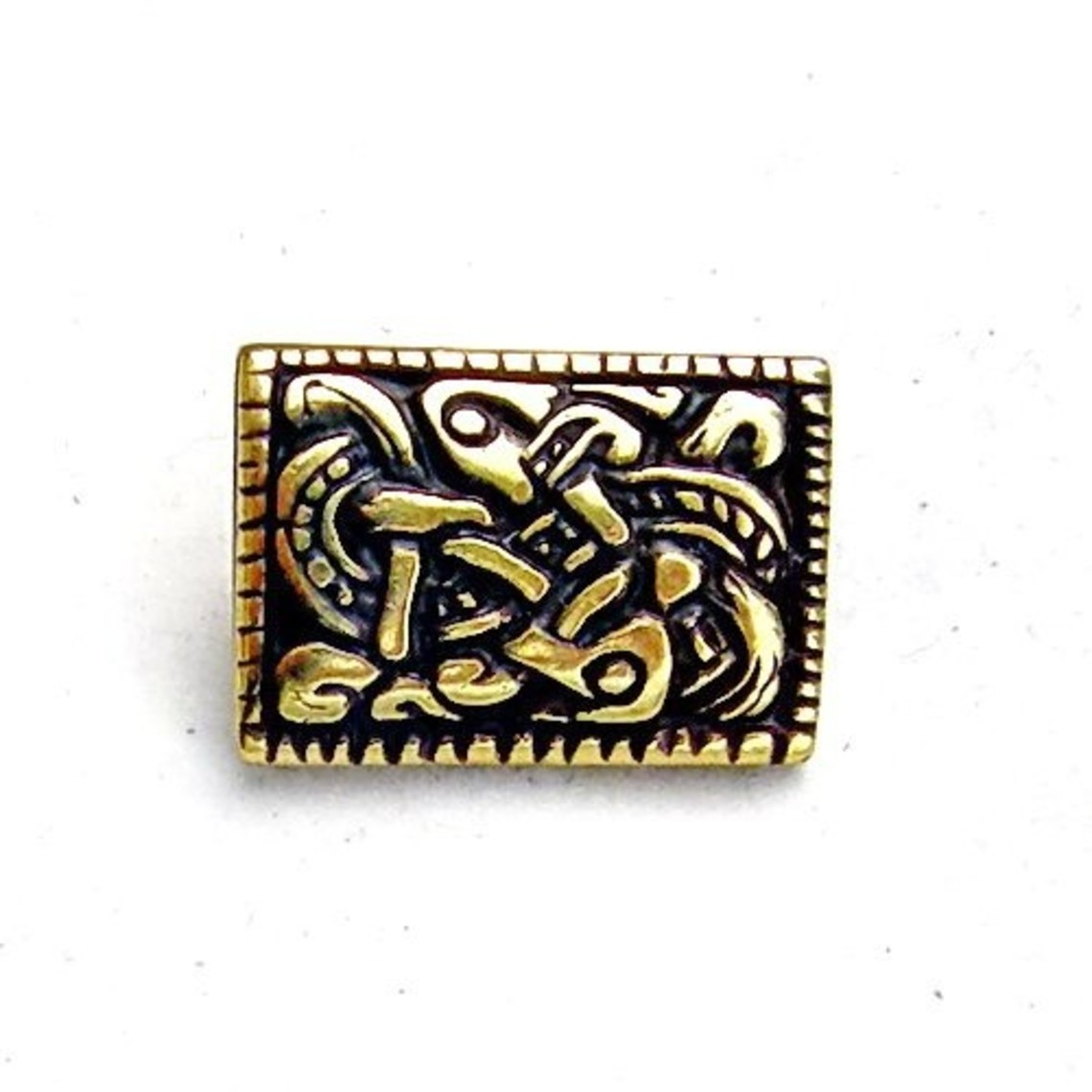 Viking belt fitting Denmark, silvered