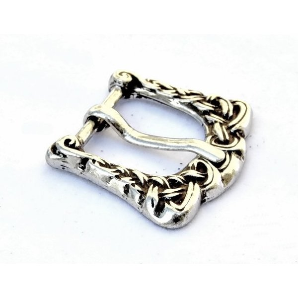 Anglo-Scandinavian buckle, silvered