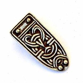 extrémité de courroie anglo-scandinave, argenté