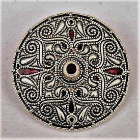 Broche celtique Auvers sur Oise, argentait