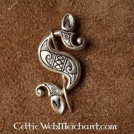 Celtic-Roman sea horse fibula, silvered