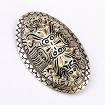 Viking turtle brooch Finland, silvered