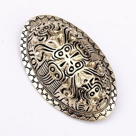 Viking turtle brooch Finland, silvered