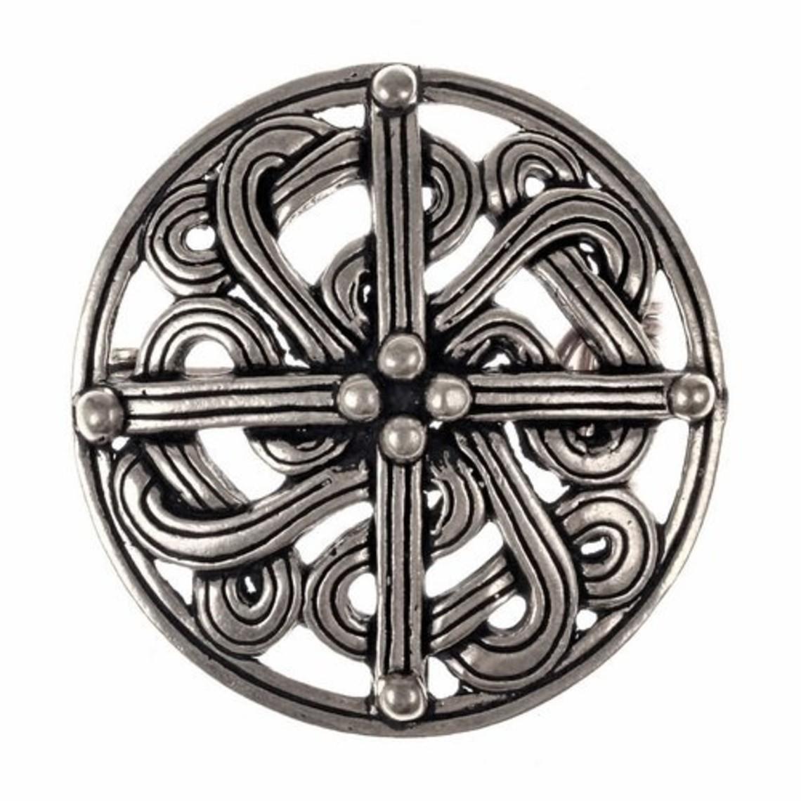 Broche Viking du 10ème siècle, argentée