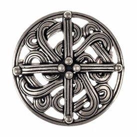 Broche vikingo del siglo X, plateado