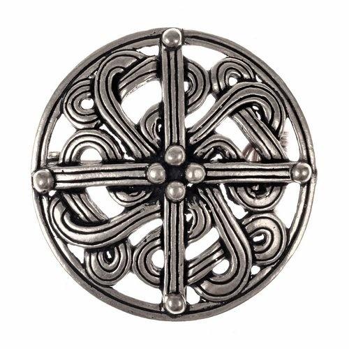 Wikingerbrosche aus dem 10. Jahrhundert, versilbert