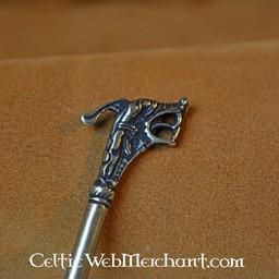 Haithabu hair needle, silvered