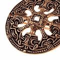 Viking disco peroné estilo Borre, de color bronce