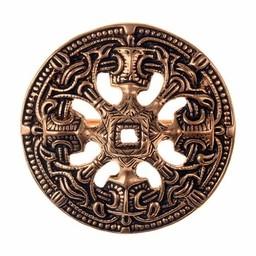 Viking Scheibenfibel Borre Stil, Farbe Bronze