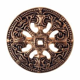 Viking disco perone stile Borre, color bronzo