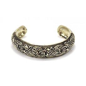 Insular keltisk armbånd, sølvfarvet