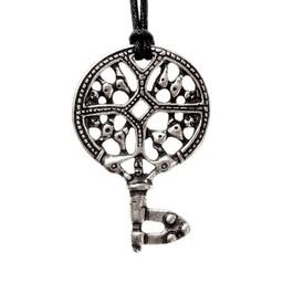 Viking key, silvered