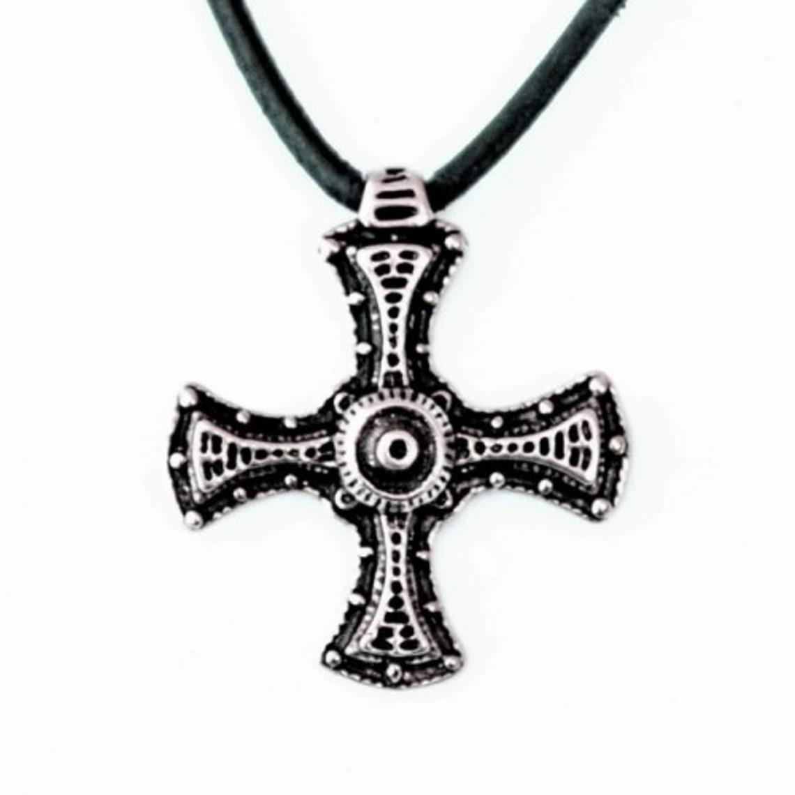 Cuthbert kruis, verzilverd