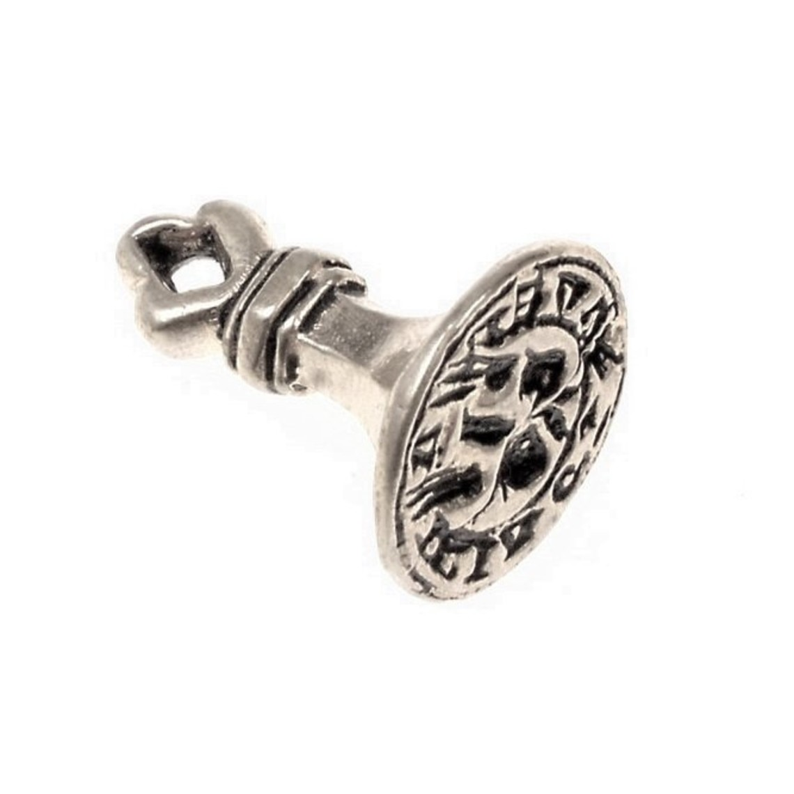 sello medieval Inglés, plateado