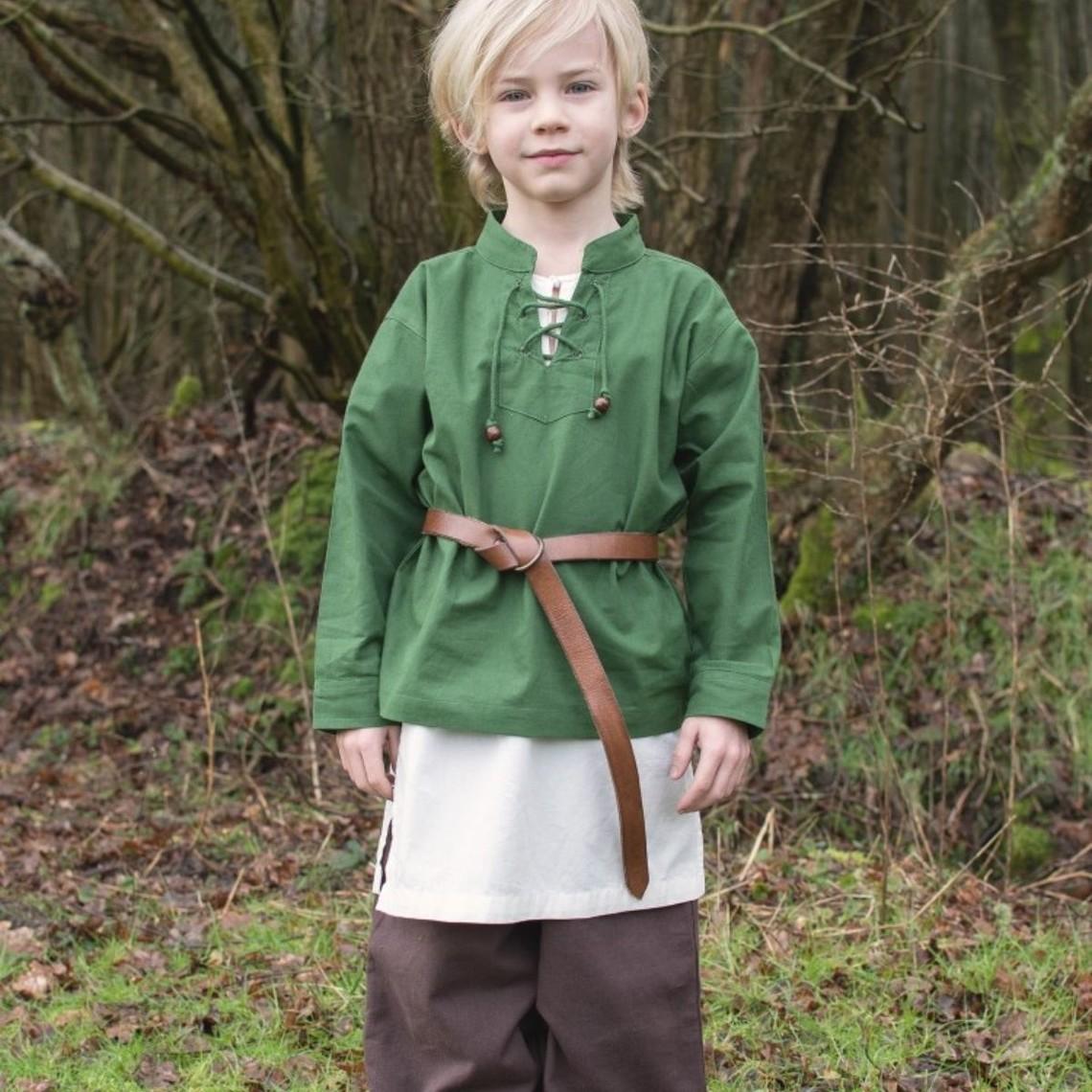 Camisa de los niños pirata, verde