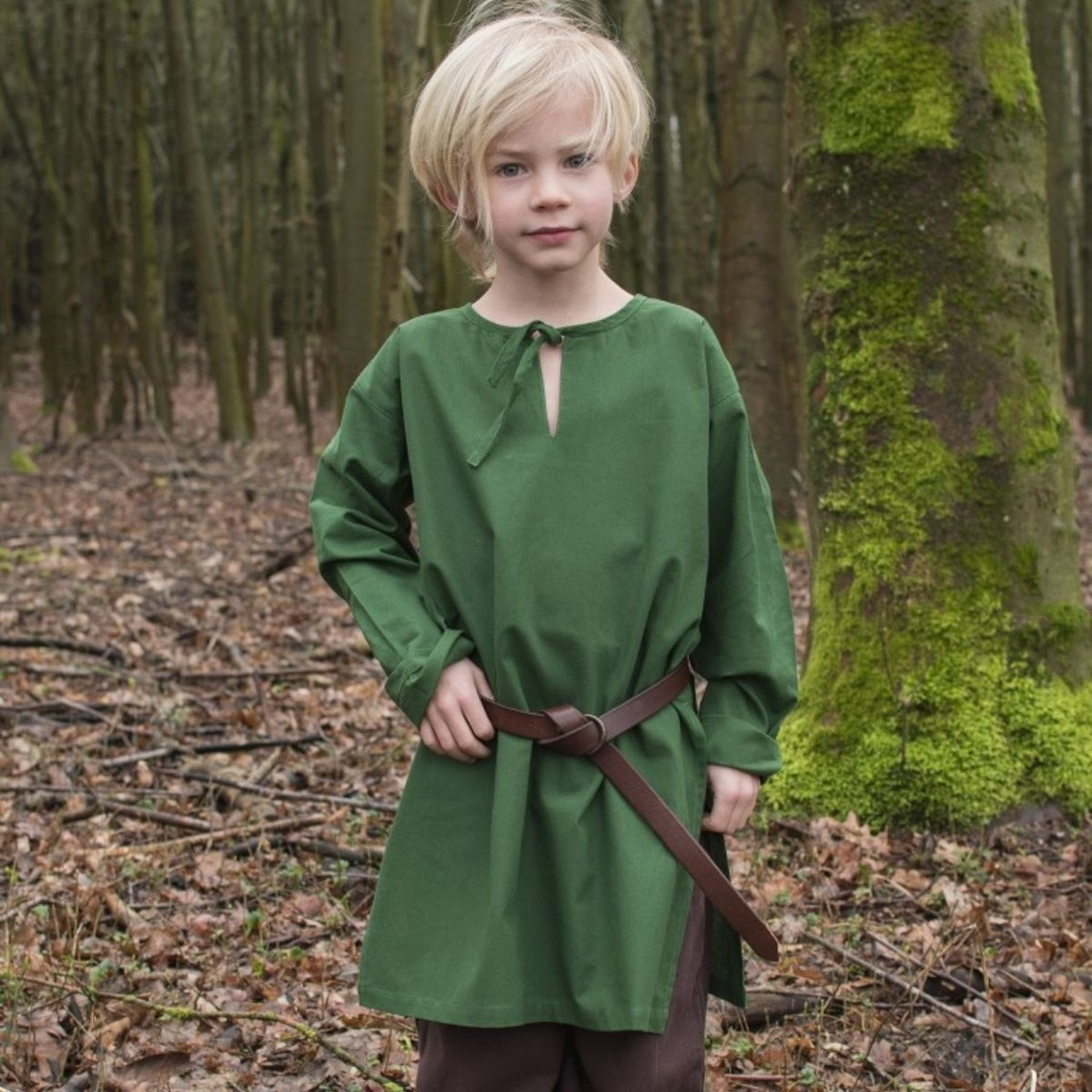 Niños túnica Athelstan, verde