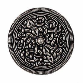 Sutton Hoo brooch, silvered