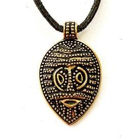 amulette masque Viking Gotland, bronze