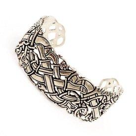 Bracciale celtica con motivi irlandesi antichi, argentato