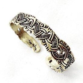 Viking bracelet Isle of Man, silvered