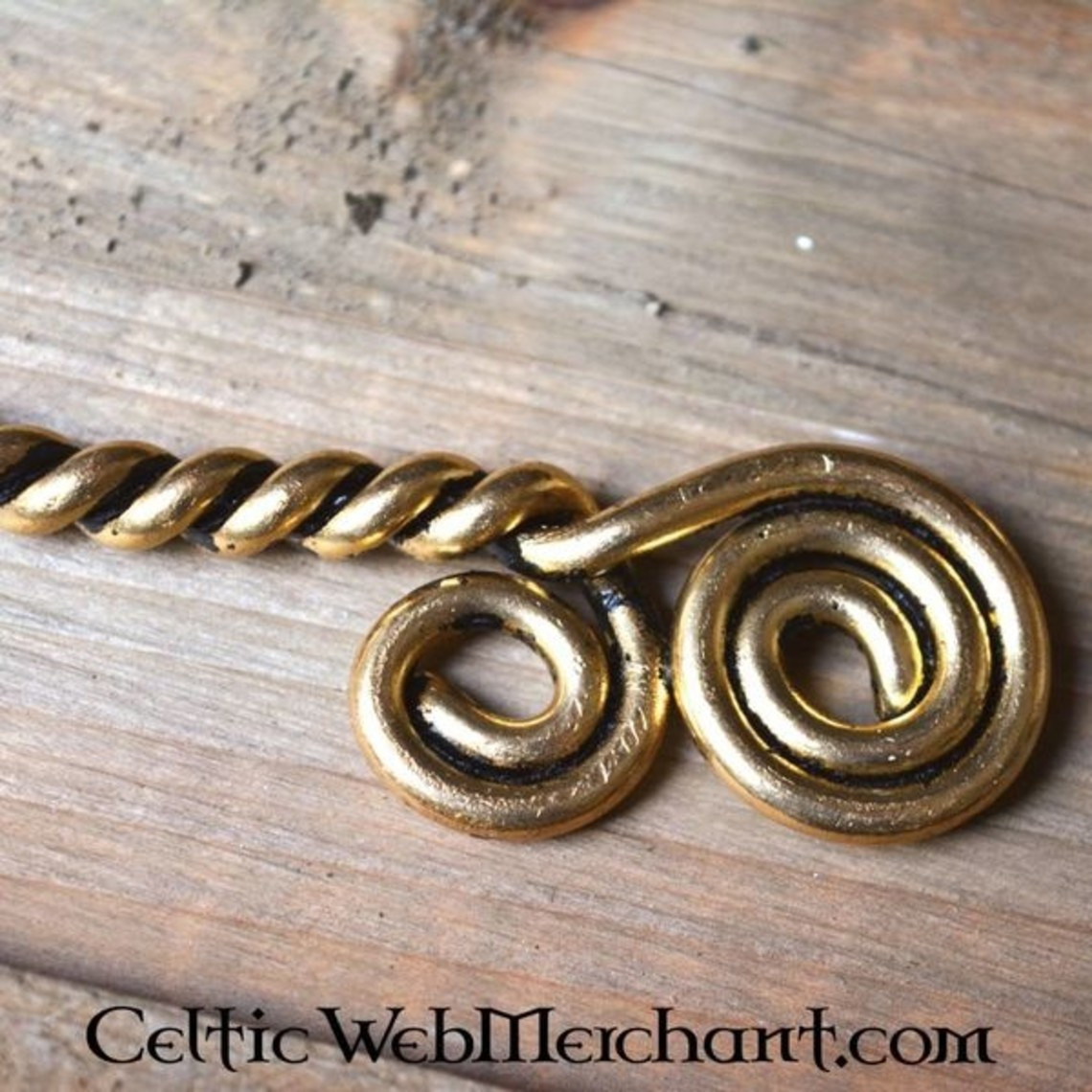Moment med Celtic spiraler, forsølvede
