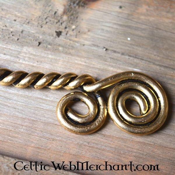 Vridmoment med Celtic spiraler, försilvrade