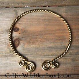 Coppia con spirali celtiche, argentato
