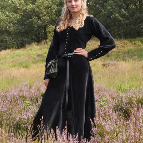 Velvet cotehardie Christina, svart