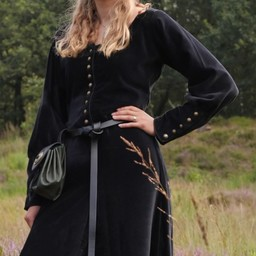 Aksamitna cotehardie Christina, czarna