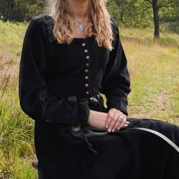Samt Cotehardie Christina, schwarz