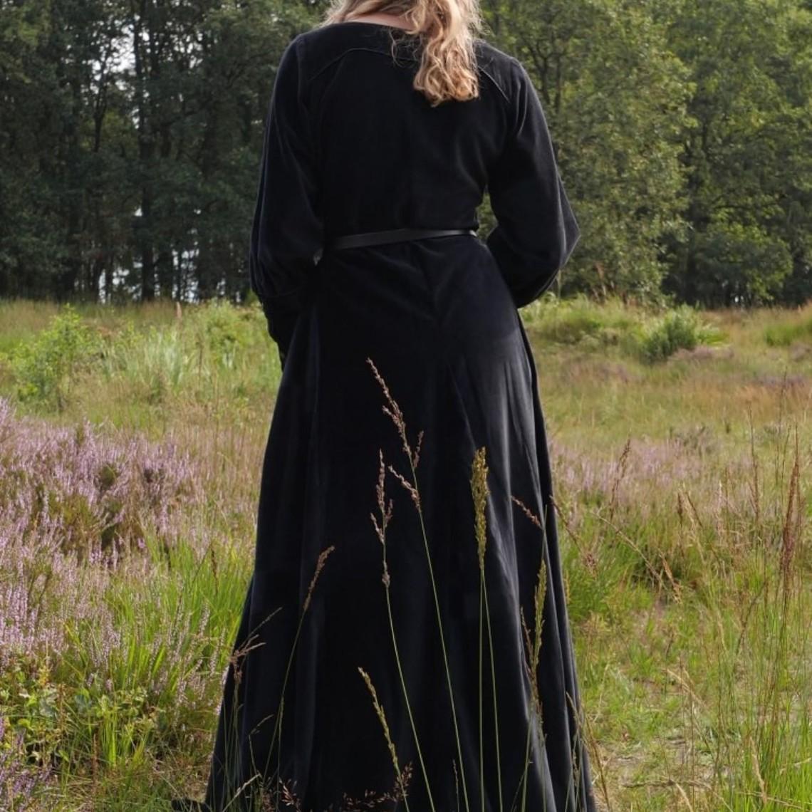 Velvet cotehardie Christina, negro