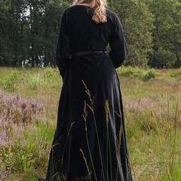 Velvet cotehardie Christina, black