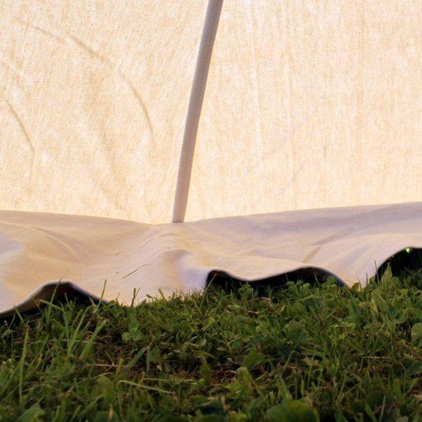 Mittelalterliches Zelt Herold 4 x 4 m, natürliche