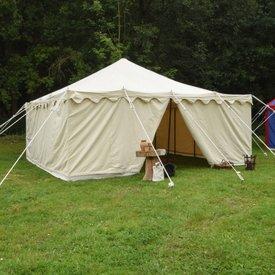 Medeltids tält Herold 6 x 6 m, naturlig