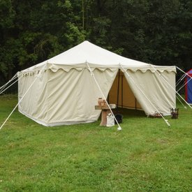 Tente médiévale Herold 6 x 6 m, naturel