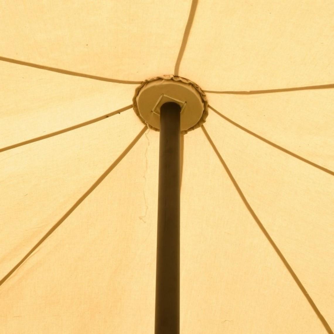 Mittelalterliches Zelt Herold 6 x 6 m, natürliche