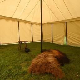 Medieval tent Herold 6 x 6 m, natural