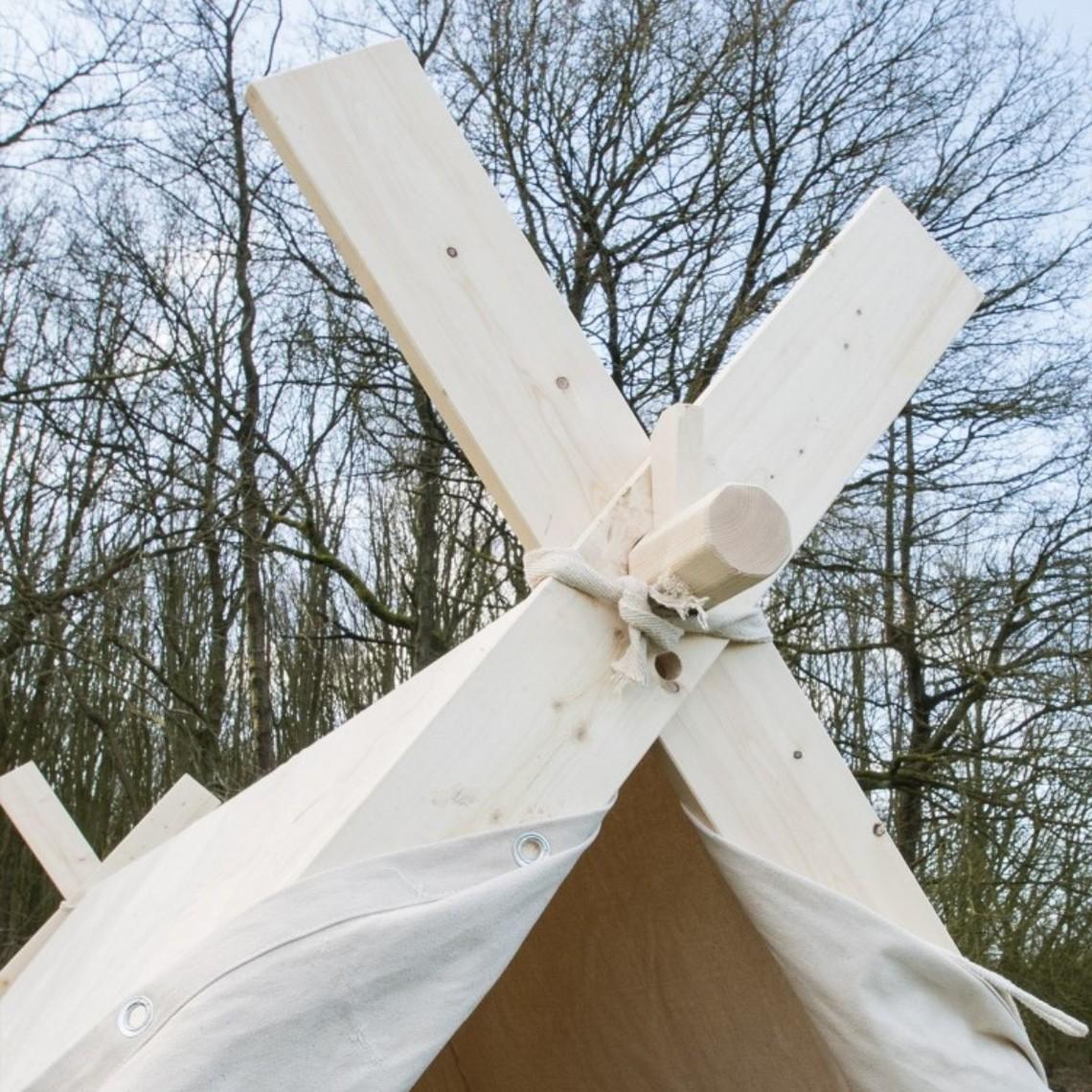 Vikingetelt 2 x 2,3 x 1,8 m uden ramme, 350 gms